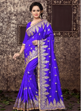 Charming Art Silk Embroidered Work Traditional Saree