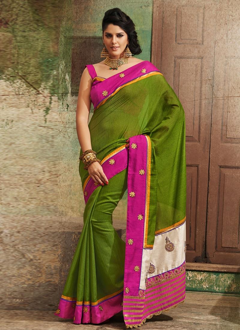 Charming Bhagalpuri Silk Party Wear Saree
