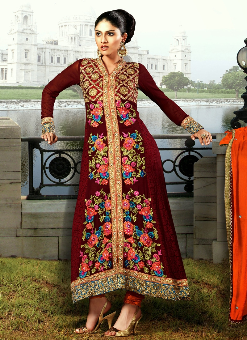 Charming Burgundy Color Designer Salwar Kameez