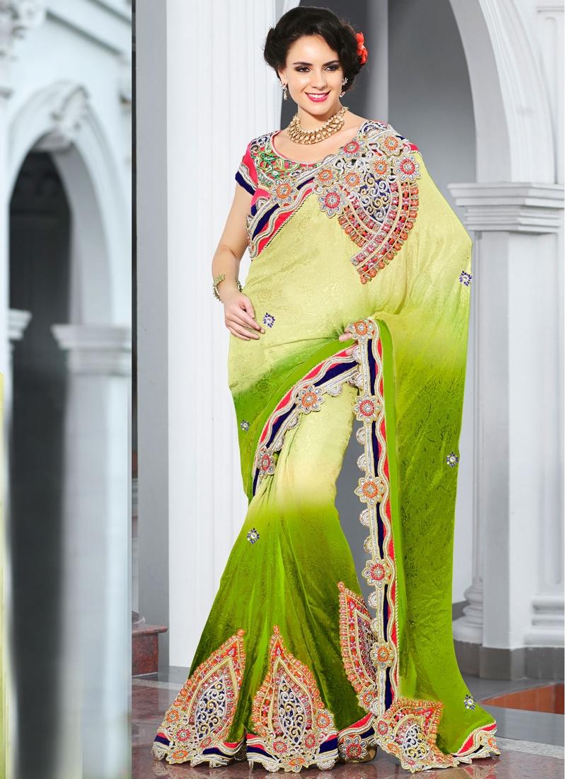 Charming Cord Enhanced Party Wear Saree