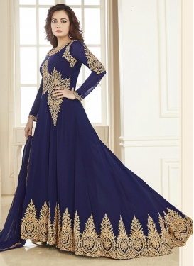 Charming Dia Mirza Floor Length Anarkali Suit For Festival