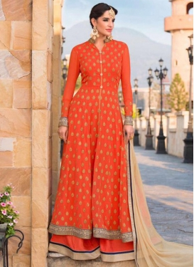 Charming  Embroidered Work Palazzo Designer Salwar Kameez
