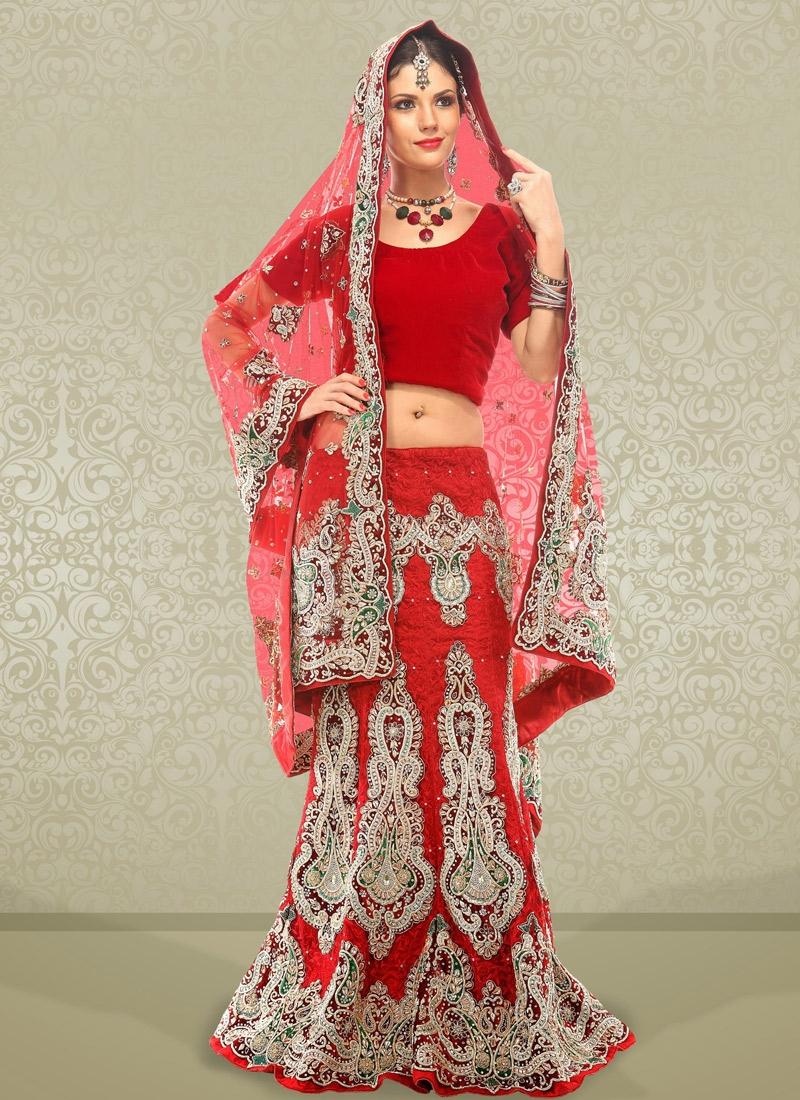 Charming Resham Enhanced Bridal Lehenga Choli