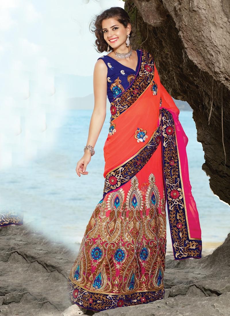 Charming Resham Enhanced Lehenga Saree