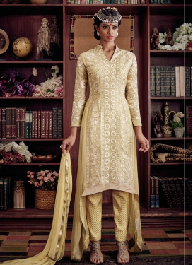 Cherubic Embroidery Work Pant Style Designer Suit