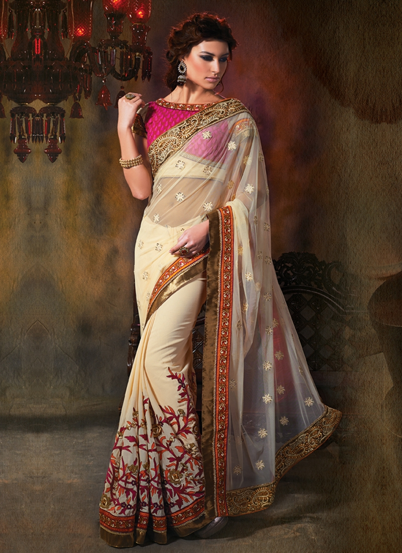 Cherubic Lace And Multi Work Party Wear Saree