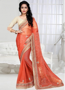 Chic  Beads Work Trendy Saree