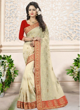Chic Booti Work Traditional Designer Saree