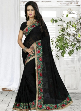 Chic Embroidered Work Classic Saree For Ceremonial