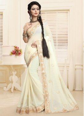 Chic Embroidered Work Traditional Designer Saree