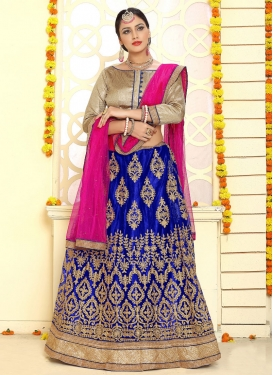 Chic Net Trendy Lehenga Choli For Festival