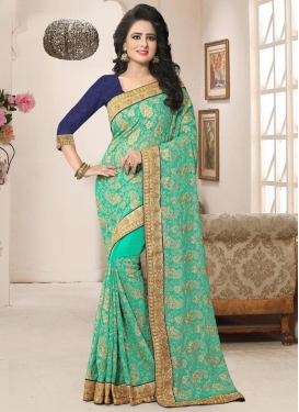 Chicken Work Trendy Saree