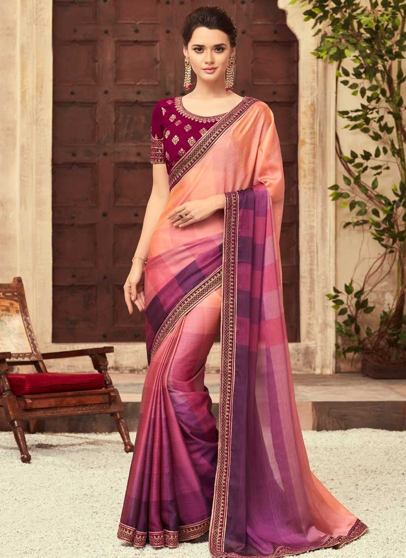 Chiffon Satin Classic Designer Saree