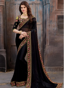 Chiffon Satin Contemporary Saree