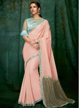 Chiffon Satin Designer Contemporary Saree