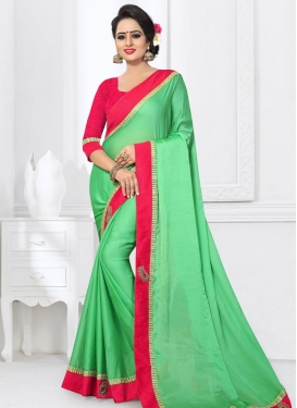 Chiffon Satin Traditional Saree For Ceremonial