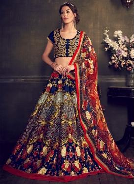Classical Banglori Silk Resham Work Designer Lehenga Choli