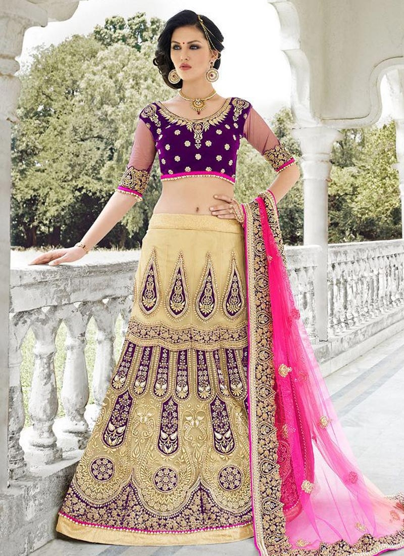 Classical Beads And Stone Work Bridal Lehenga Choli