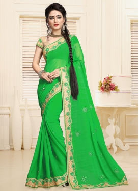 Classical  Designer Contemporary Style Saree For Ceremonial