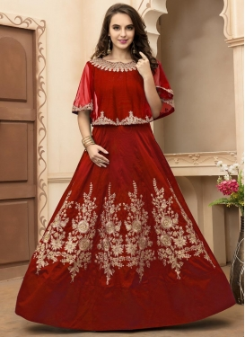 Classical Embroidered Work Floor Length Anarkali Salwar Suit