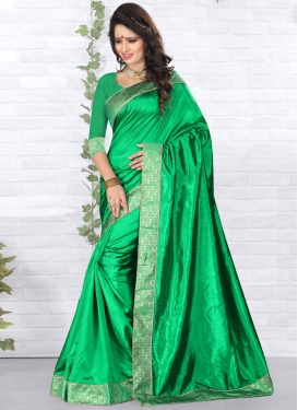 Classical Green Color Casual Saree