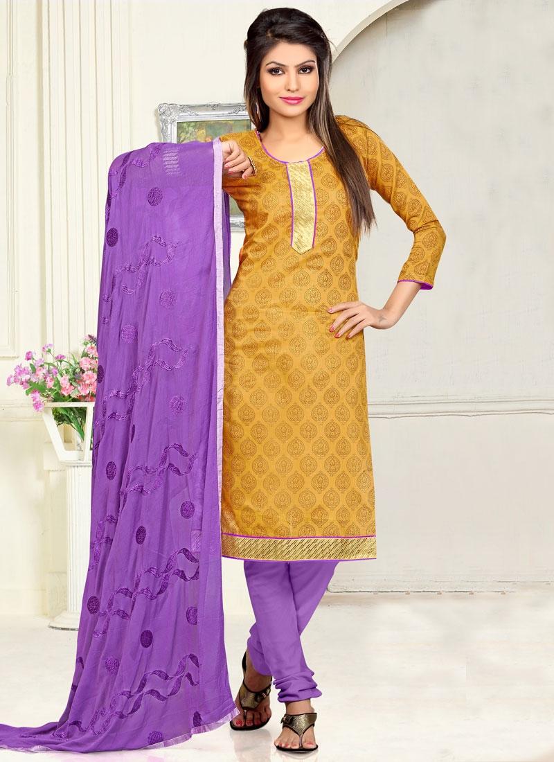Classical Mustard Color Casual Salwar Kameez