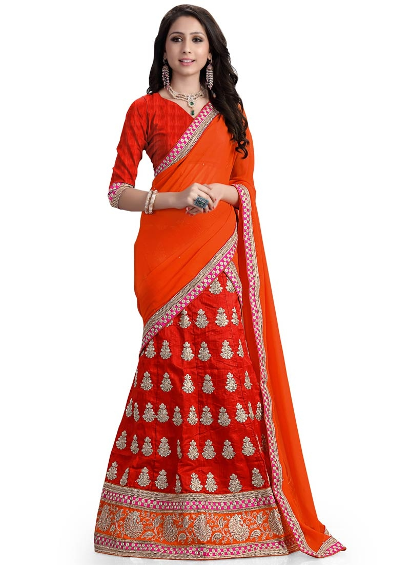 Classical Red Color Silk Wedding Lehenga Choli