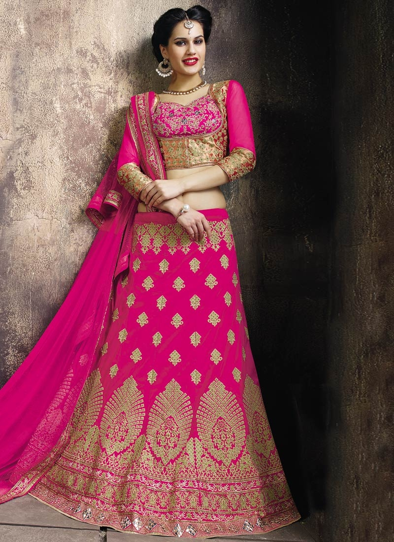 Classical Resham And Stone Work Bridal Lehenga Choli