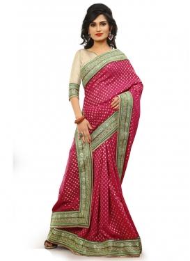 Classy Patch Border Work Designer Saree