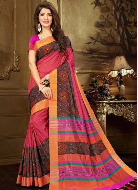Coffee Brown and Rose Pink Banarasi Silk Classic Saree