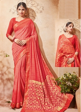 Compelling Faux Georgette Contemporary Style Saree