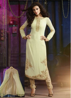 Compelling Pure Georgette Jacket Style Designer Suit
