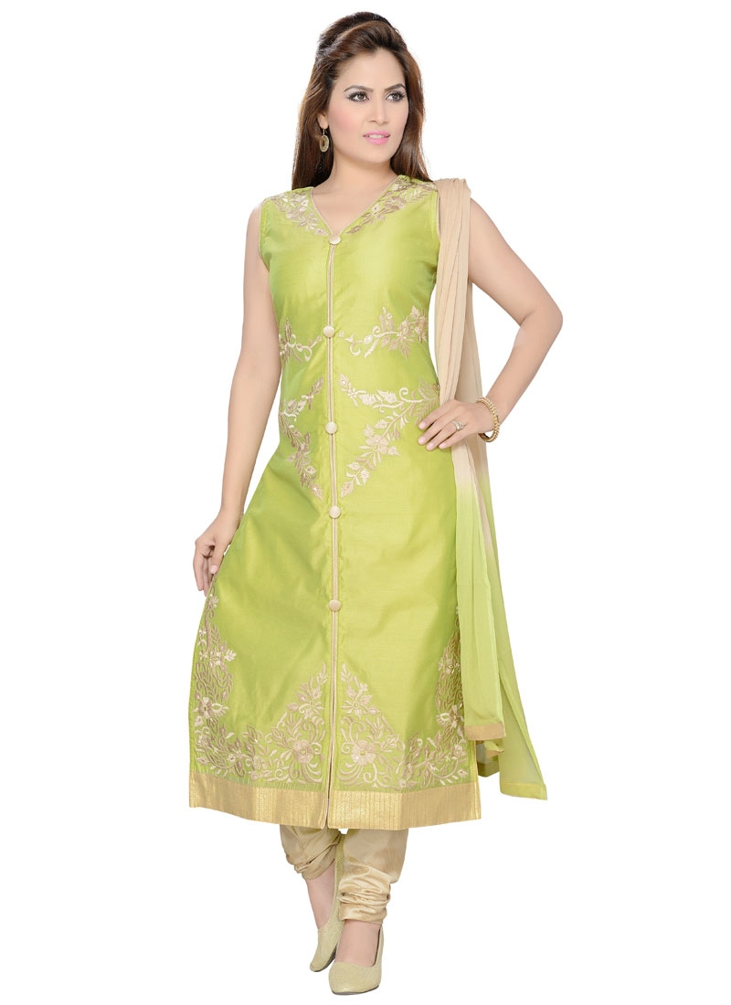 Compelling Resham Work Party Wear Readymade Salwar Suit
