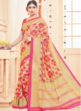 Competent Art Silk Classic Saree