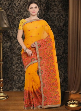 Competent Contemporary Saree For Festival