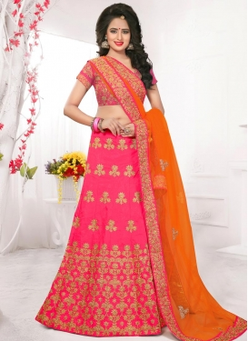 Competent Embroidered Work Trendy Lehenga Choli For Festival