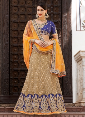 Competent Patch Border Work Bridal Lehenga Saree