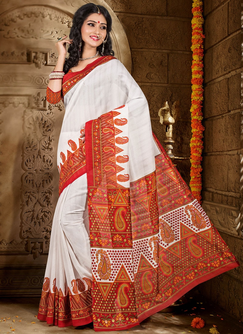 Competent Printed Casual Saree
