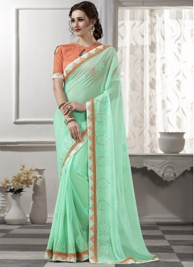 Congenial  Booti Work Trendy Saree For Ceremonial