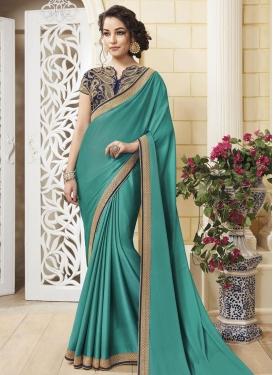 Congenial Lace Work Classic Designer Saree