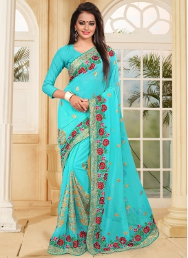 Conspicuous  Booti Work Traditional Designer Saree For Ceremonial