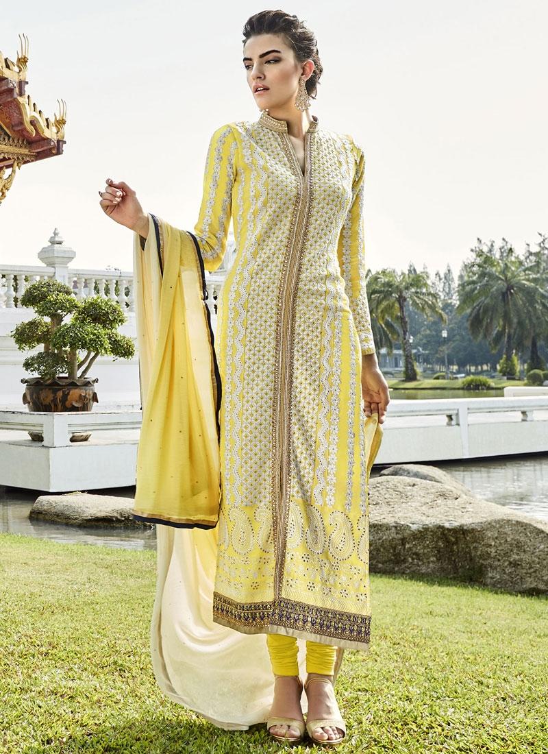 Conspicuous Stone Work Long Length Pakistani Suit
