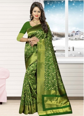 Conspicuous Thread Work Contemporary Style Saree