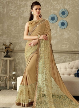 Cord Work Contemporary Style Saree