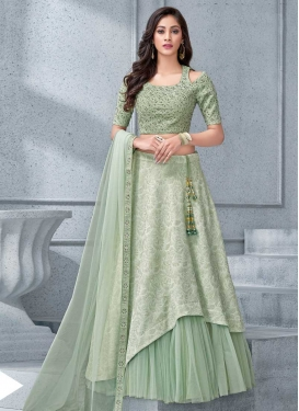 Cord Work Layered Designer Lehenga Choli