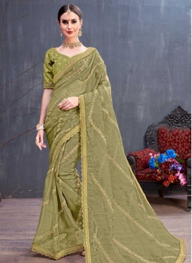 Cord Work Organza Trendy Saree