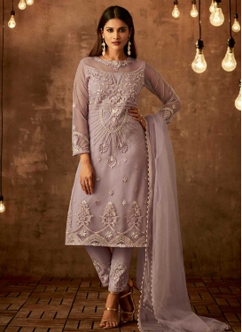 Cord Work Pant Style Classic Salwar Suit