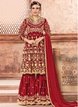 Cord Work Sharara Salwar Suit