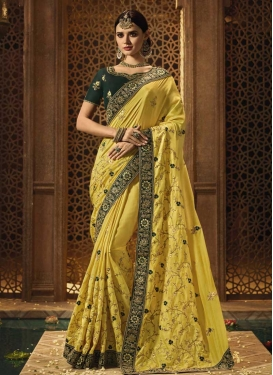 Cord Work Traditional Saree