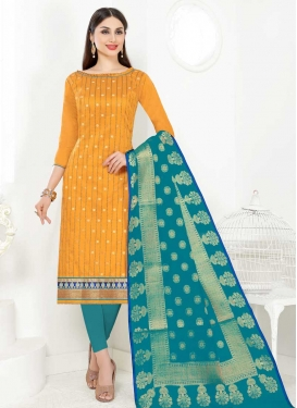 Cord Work Trendy Straight Salwar Kameez